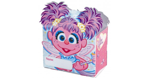 New Package of 6 Sesame Street Abby Cadabby Treat Boxes Birthday Party Favor