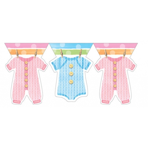 baby clothes baby shower banner bubbles and rainbows party supplies