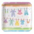 Baby Clothes Baby Shower Luncheon Plate (8)