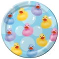 Rubber Ducky Baby Shower Plate