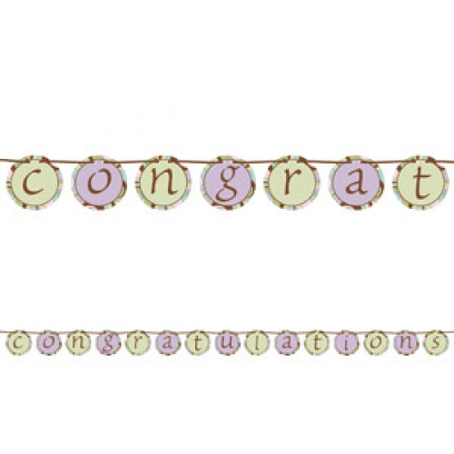 "parenthood baby shower ""congratulations"" banner  bubbles and, Baby shower invitation"