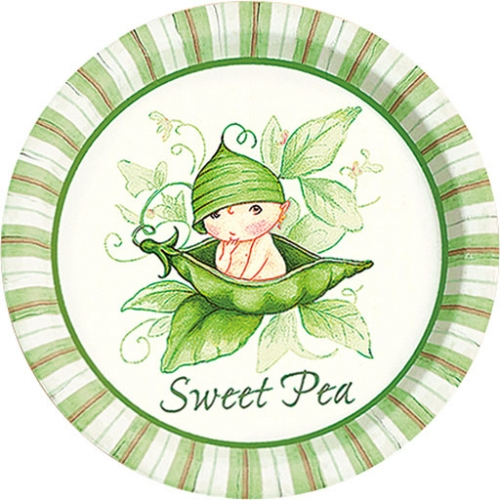 sweet pea baby shower dessert plates 8 bubbles and rainbows party