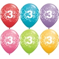 No. 3 Latex Balloons Assorted Colours