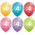 No. 4 Latex Balloons Assorted Colours