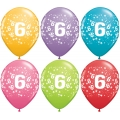 No. 6 Latex Balloons Assorted Colours