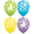 Rubber Ducky Latex Balloons in Assorted Colours -pink, yellow, green, blue, purple