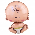 "Welcome Baby Shaped HUGE 55cm or 22"" Jumbo Foil Balloon"