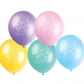 Baby Shower Latex Balloons in Assorted Colours