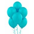 Blue Bermuda Turquoise Latex Balloons 6 Pack