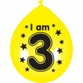 I am 3 balloons (1) Various colours - red, blue, yellow, green and purple
