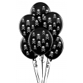 Pirate Party Skull & Crossbones Latex Balloons 6 Pack