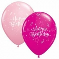 Shining Star Assorted Balloons in Pink & Wildberry