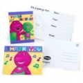 Barney the friendly Dinosaur Party Invites (8) & Thankyou notes (8)