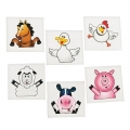 Farm Animal Tattoos ~ 12 pack