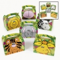 Zoo / Jungle Animal Empty Favor Boxes ~  (6)