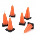 Candles Builders Construction Cone Candles Party Item Pack of 6