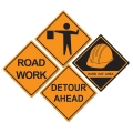 Builder Construction Sign Cutouts Pack of 4