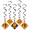 Builder Construction Hanging Whirls (5 pack)