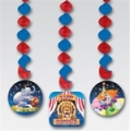 Circus Big Top Birthday Dangling Decorations pack of 3
