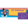 Circus Big Top Birthday Giant Banner with letter inserts