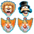 Circus Big Top Birthday Masks (8), 