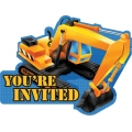 Under Construction Builder Party Invites