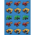 Under Construction Builder Party Stickers (pack of 4)