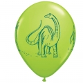 Dinosaur Party Latex Balloons mixed colours (6)