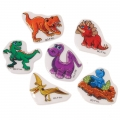 Dinosaur Puffy Stickers ~ Pack of 6