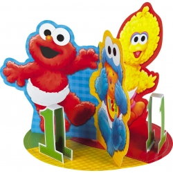 Sesame Street Big Bird, Cookie Monster &amp; Elmo Party Centrepiece
