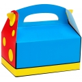 Blue, Red & Yellow Empty Favor Boxes (4)