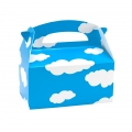 Blue with White Clouds Empty Favor Boxes ( 4)