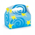Blue with Yellow Stars Empty Favor Boxes (4)