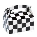 Racing Checkered Empty Favor Boxes (4)