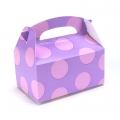Lavender with Pink Big Dots Empty Favor Boxes (4)