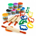 Color Dough Activity for 4 children