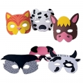 Farm Animal Foam Masks ~ Pack of 6