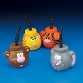 Jungle Zoo Animals Cups with Straws ~