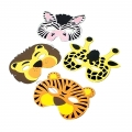 Wild Jungle Animal Foam Masks ~ Pack of 6