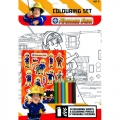 Fireman Sam, Firefighter / Fireman Fire Engine Colouring Set