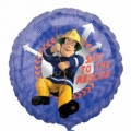 "Fireman Sam Foil Balloon 18"" or 45 cm"