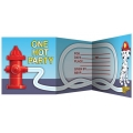 Firefighter / Fireman Fire Engine Party Invites