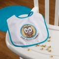 Owl Blue 1st Birthday Bib