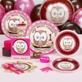 Owl turning 1 Pink Premium Party Pack for 8 ~ Out of stock