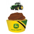 John Deere Party Cupcake Wraps and Picks (12)
