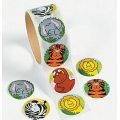 Zoo / Jungle Animal Roll of stickers 100
