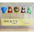 Zoo / Jungle / Safari Animal Candles Pack of 5
