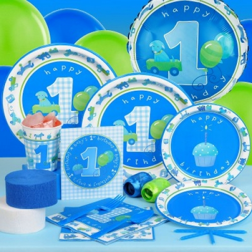 Little Boys 1st Birthday Party Pack