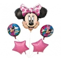 Minnie Mouse Balloon Bouquet (5 pieces)