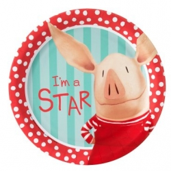 Olivia Pig Party Dinner Plates (8)